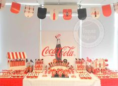 Coca Cola birthday party! See more party ideas at CatchMyParty.com!