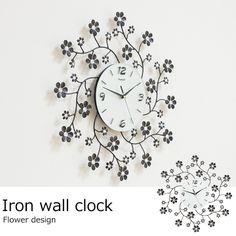 アイアン壁掛け時計 / 8160b