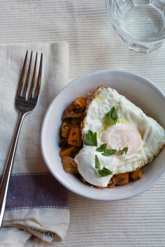 Charmoula-Roasted Vegetables with a Fried Egg