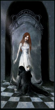 Snape at the Mirror of Erised.