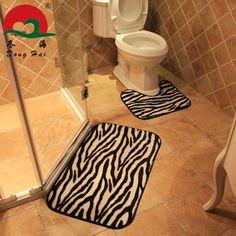 Bathroom Decorating Ideas Zebra Toilet Seat Cover Toilets - Zebra bath mat for bathroom decorating ideas