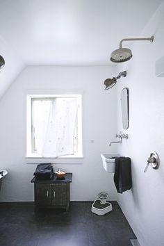 #bathroom  - i love the utilitarian feel.  Plus, gorgeous