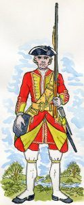 8th Foot: Battle of Rocoux 30th September 1746 in the War of the Austrian Succession: picture by Mackenzies from Representation of Cloathing
