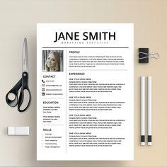 Resume Template/CV + Cover Letter by Kingdom Of Design on @creativemarket Best Cv Template, Resume Design Template, Resume Templates, Design Templates, Resume Folder, Job Resume, Resume Ideas, Student Resume, Curriculum Vitae Template