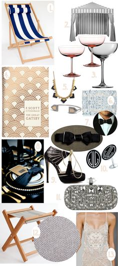 The Great Gatsby Finds some party inspiration via Gallant and Jones