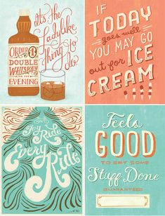 Type by Mary Kate McDevitt! The two on the right-hand side are in Carpe Diem journal we published with Mary Kate!
