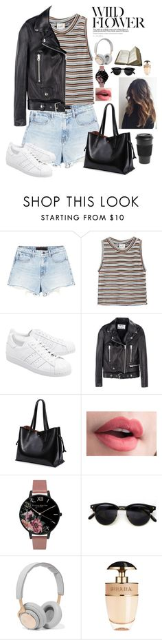 """If i could fly i'd be roght back home to you"" by youngsmile ❤ liked on Polyvore featuring Alexander Wang, Edith A. Miller, adidas Originals, Acne Studios, Olivia Burton, B&O Play, Prada and Homage"