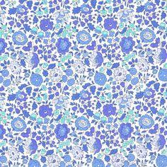 Liberty Fabric Danjo D Pale Blues Tana Lawn by Alicecarolinesupply, $35.00