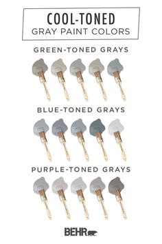 Neutral shades can be cool—literally! Check out this cool-toned gray paint color palette from Behr t