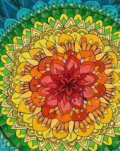 Mandala Apocalypse Print Rainbow Copic by PaintMyWorldRainbow, $15.00 http://johnpirilloauthor.blogspot.com/