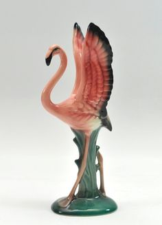 Vintage Will George 'Wings Up' Flamingo