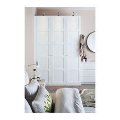 PAX Wardrobe, white, Bergsbo white soft closing hinge 59x23 5/8x93 1/8