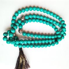 Turquoise 101 BEAD TASBIH Prayer Worry Beads Tasbih Synthetic Turquoise Gemstone Handmade Oxidized silver Bead and Imam Beads by gemsandjewells on Etsy Turquoise Gemstone, Turquoise Bracelet, Oxidized Silver, Silver Beads, Prayer, Gemstones, Trending Outfits, Unique Jewelry, Bracelets