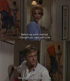 Barefoot in the Park(1967), dir. Gene Saks with Jane Fonda and Robert Redford.