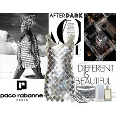 After Dark: Party Outfits by dezaval on Polyvore featuring moda and Paco Rabanne
