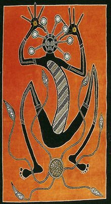 Mimi- Australian folklore: tall and thin fairy-like spirits that taught humans how to use fire, how to cook kangaroos, and how to paint. They live in rock crevices to hide from the wind. They must be approached a certain way to not offend them.