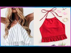 Blusas Crop Top, Crop Tops, Tankini, Diana, Costumes, Coco, Swimwear, Outfits, Youtube