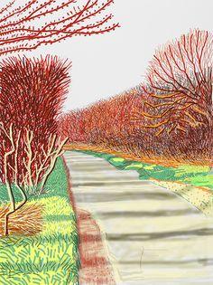 David Hockney, 'The Arrival of Spring in Woldgate, East Yorkshire in 2011 (twenty eleven) - 21 March 2011,' 2011, Annely Juda Fine Art
