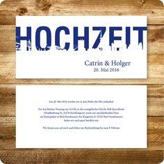 Einladungskarte Maritim, Hamburg, Einladung Für Hochzeit, Individuell  Designed By Die Kartenfrau | Pinterest | Hochzeit, By And Hamburg