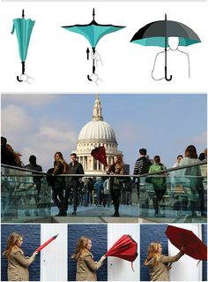 The umbrella has remained widely unchanged for centuries, keeping users dry until it comes time to close it. Inevitably, you'll end up with wet hands or runaway water droplets when you attempt to wrap it up. Until now! #Umbrella #Innovative #Cool #Design #Rain #YankoDesign