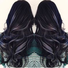 Smoked out black and silver. Via @mermaidians on insta. Highlights Black HairLavender ...