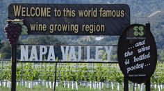 FILE:  sign along Highway 29 welcoming visitors to the Napa Valley in Oakville…