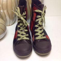2a1a37a072f5 Womens Woolrich CONVERSE Wool Plaid Shoes Size 7.5 Women 6 Men