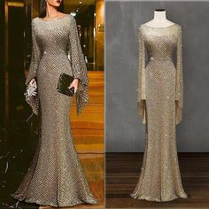 Description Product Name Elegant silver trumpet sleeve sexy fishtail evening dress SKU Material Polyester Type Casual Occasion Date/Vacation/Daily Life Product no. Please Note All dimensions are measured manually with a deviation of 1 to Tight Dresses, Sexy Dresses, Casual Dresses, Fashion Dresses, Formal Dresses, Backless Dresses, Tailored Dresses, Sparkly Dresses, Corset Dresses