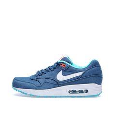 Nike Air Max 1 PRM Denim  Turquoise & White