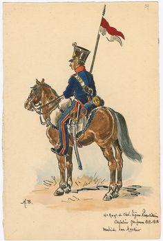 Kingdom of Naples; 4th Regt. Cheveau Legers, Trooper, Grande Tenue 1812-13 by H.Boisselier