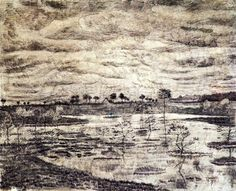 Vincent van Gogh A Marsh 1881 Owner/Location: National Gallery of Canada (Canada) Dimensions: Height: cm in.), Width: cm in.) Medium: Drawing – pencil and ink Vincent Van Gogh, Renoir, Van Gogh Drawings, Post Impressionism, Art Database, Online Art, Les Oeuvres, Painting & Drawing, Paintings