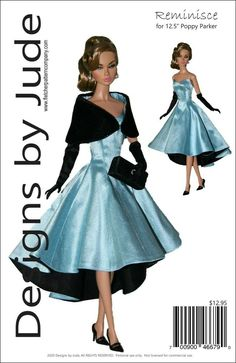 "Reminisce Doll Clothes Sewing Pattern 12.5/"" Fashion Royalty Integrity"