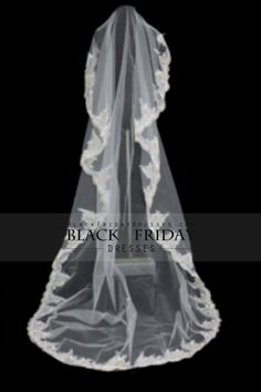 1 Layer Cathedral Length Wedding Veil Wedding Accessories V005