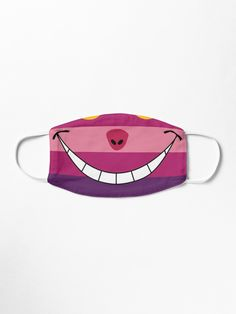 """Cheshire Cat Funny Wonderland Colorful illustration"" Mask by epoliveira | Redbubble"