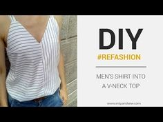 DIY/REFASHION- V-Neck Top for Women with FREE PATTERN! - Snip and Sew