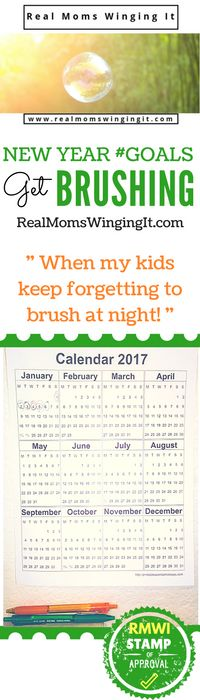 """Tired of having your kids """"forget"""" to brush at night?  After an unsuccessful year of night brushing I decided to come up with a quick and simple idea!  Perfect solution! www.RealMomsWingingIt.com"""