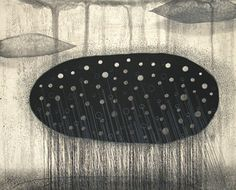 Akiko Taniguchi. Cold Front, 2005. Etching, mezzotint, drypoint, chine colle. Edition of 20. 8 x 10 inches.