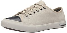 SeaVees Women's 08/61 Army Issue Sneaker Low Fashion Sneaker, Putty Buffed leather