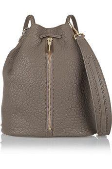 Elizabeth and James Cynnie Sling convertible pebbled-leather shoulder bag | NET-A-PORTER