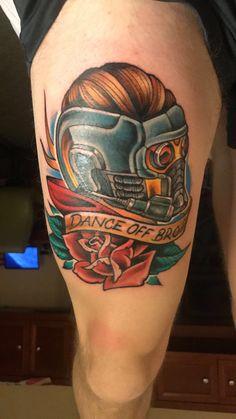 Star Lord Guardians of the Galaxy Tattoo