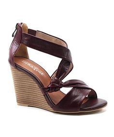 This Diba Red Grand Slam Leather Wedge Sandal by Diba is perfect! #zulilyfinds