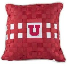 University of Utah Utes Square Pillow