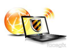 Creative Internet security background vector