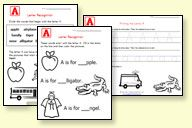 Hundreds of free printable preschool worksheets- alphbet, numbers, shapes, colors, math, phonice, etc.