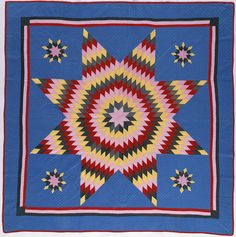1900' from Lancaster, Pennsylvania Lone Star Quilt, Star Quilts, Lancaster Pennsylvania, Star Of Bethlehem, Antique Quilts, Amish, Quilt Patterns, Organizing, Quilting