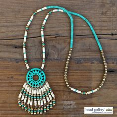 Turquoise Summer Necklace designed by @dyezbakmoore using Bead Gallery beads available at @michaelsstores #MadeWithMichaels