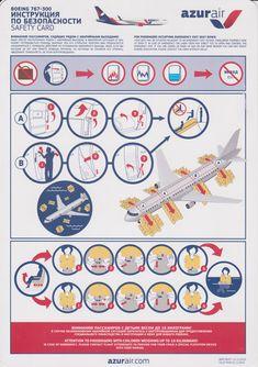 Safety Card AzurAir Boeing B767-300 (2)
