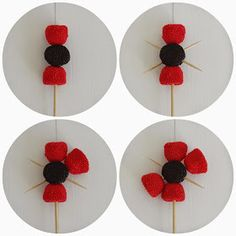 Ideas For Decor Table Anniversaire Bonbon Baby Birthday, Birthday Parties, Candy Flowers, Diy Crafts For Home Decor, Ladybug Party, Candy Cakes, Candy Bouquet, Candy Table, Candy Party