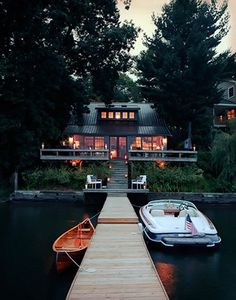 Yep, the canoe on the left is mine -- would love a home like this :)