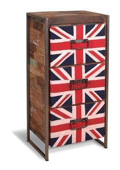 Marina Reclaimed Union Jack 3 Drawer Chest